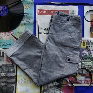 Cropped Pinstripe Pant